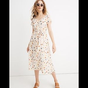 Madewell Tie-waist Midi Dress in Terrazo